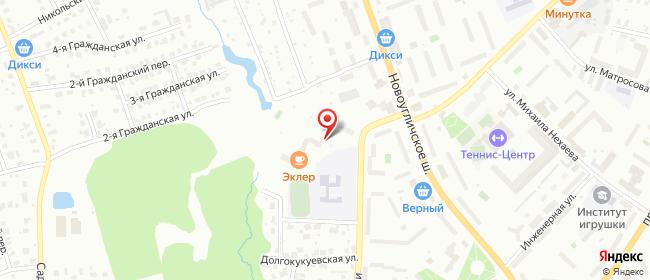 Карта расположения пункта доставки Сергиев Посад Ударной Армии в городе Сергиев Посад