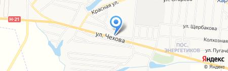 Универсам продовольственный магазин на карте Харцызска