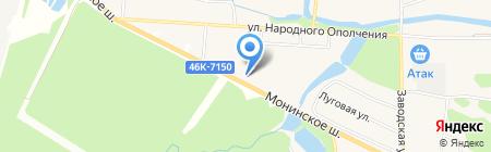 Аист на карте Аничкова