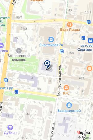 СЕРГИЕВО-ПОСАДСКАЯ ГИМНАЗИЯ на карте Сергиева Посада