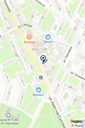 ЖУКОВСКИЙ КЛУБ ВОЗДУХОПЛАВАНИЯ на карте Жуковского
