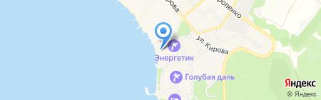 Лазурь на карте Геленджика