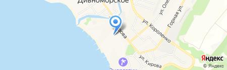 Дивноморское на карте Геленджика