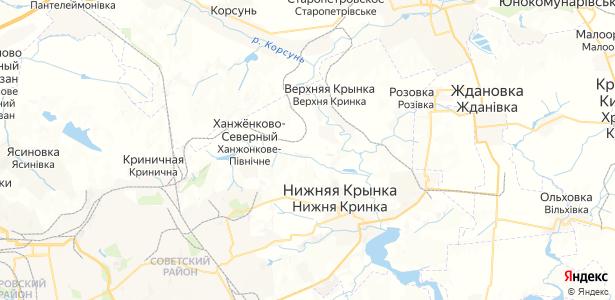 Алмазное на карте