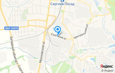 Местоположение на карте пункта техосмотра по адресу Московская обл, г Сергиев Посад, ш Скобяное, д 8