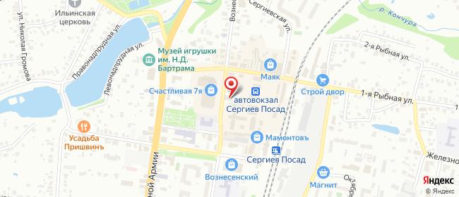 Карта расположения пункта доставки Ростелеком в городе Сергиев Посад