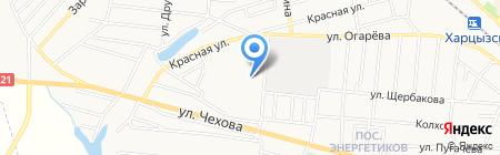 Колир на карте Харцызска