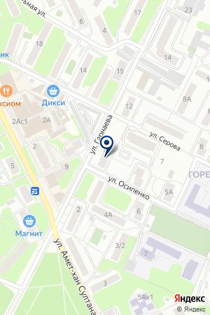 ЖУКОВСКАЯ БАНЯ № 1 на карте Жуковского