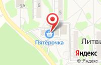 Схема проезда до компании Золотые ножницы в Литвиново