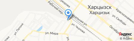 Чайка на карте Харцызска