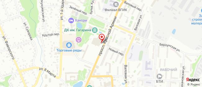 Карта расположения пункта доставки Lamoda/Pick-up в городе Сергиев Посад
