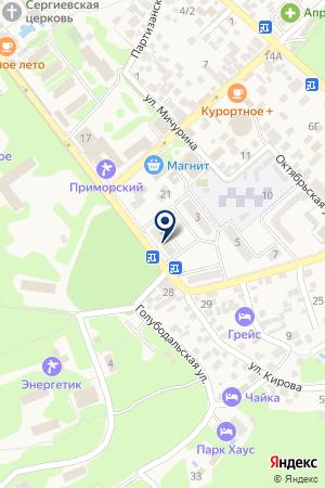 Дивноморская на карте Геленджика