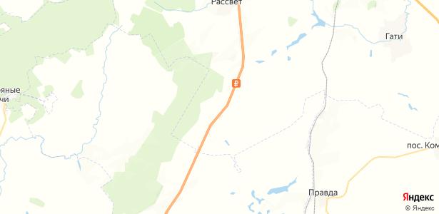 Борщевое на карте