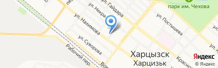 Харцызский городской военный комиссариат на карте Харцызска