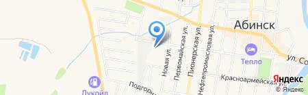 ГИБДД г. Абинска на карте Абинска