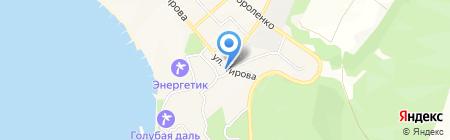 Чайка на карте Геленджика