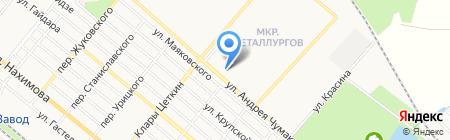 Фотосалон на ул. Металлург квартал на карте Харцызска