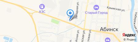 Хутор Диканька на карте Абинска
