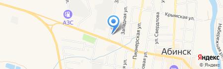 Автовокзал на карте Абинска