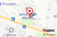 Схема проезда до компании Меридиан в Абинске