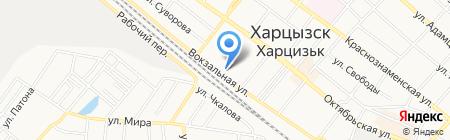 Удача продуктовый магазин на карте Харцызска