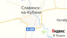 Гостиницы города Славянск-на-Кубани на карте