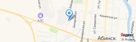 Водоканал на карте Абинска