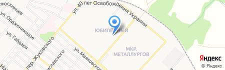 Шахтер на карте Харцызска