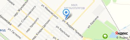 Киоск по продаже хлебобулочной продукции на карте Харцызска