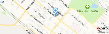 Автостоянка на ул. Гайдара на карте Харцызска