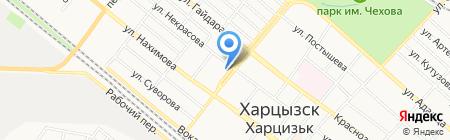 Харцызская жилищно-строительная компания на карте Харцызска