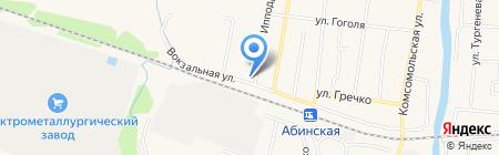 Передвижная механизированная колонна 16 на карте Абинска