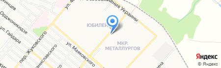 Тройка на карте Харцызска