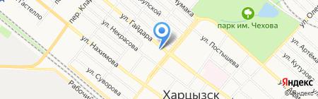 Кулибин на карте Харцызска