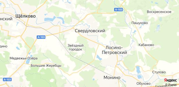 Свердловский на карте