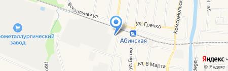 Портал на карте Абинска