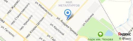 Стриж на карте Харцызска