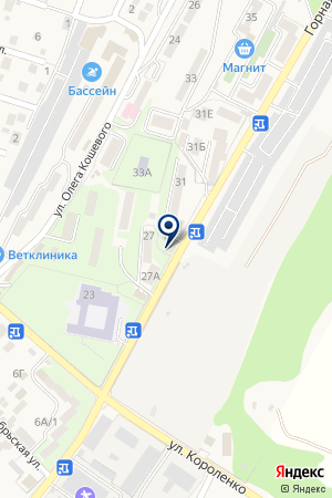 Любань на карте Геленджика
