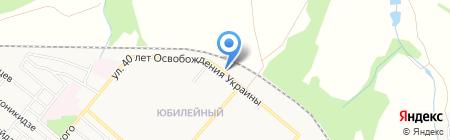 Нижняя на карте Харцызска