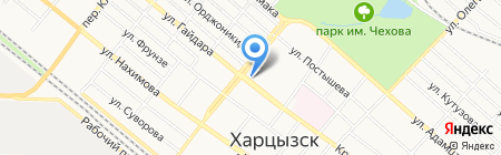 Люкс продовольственный магазин на карте Харцызска