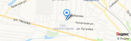 Колхозный на карте Харцызска