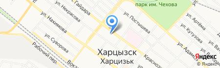 Репка на карте Харцызска