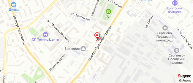 Карта расположения пункта доставки Пункт выдачи в городе Сергиев Посад