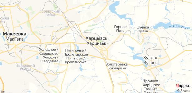 Харцызск на карте