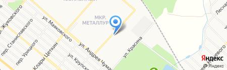 Аврора на карте Харцызска
