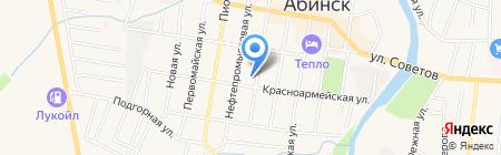 Стрекоза на карте Абинска