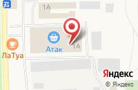 Схема проезда до компании Атак в Свердловском