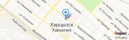 Харцызский городской совет на карте Харцызска
