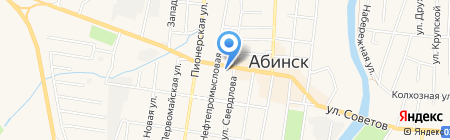Print-Line на карте Абинска