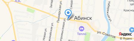 Пантера на карте Абинска